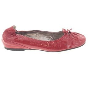 Ecco Red Patent Leather Ballet Flats 38